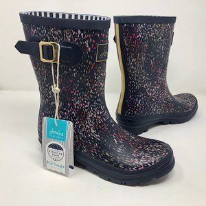 Joules Molly Navy Mid Height Welly Rain Boots